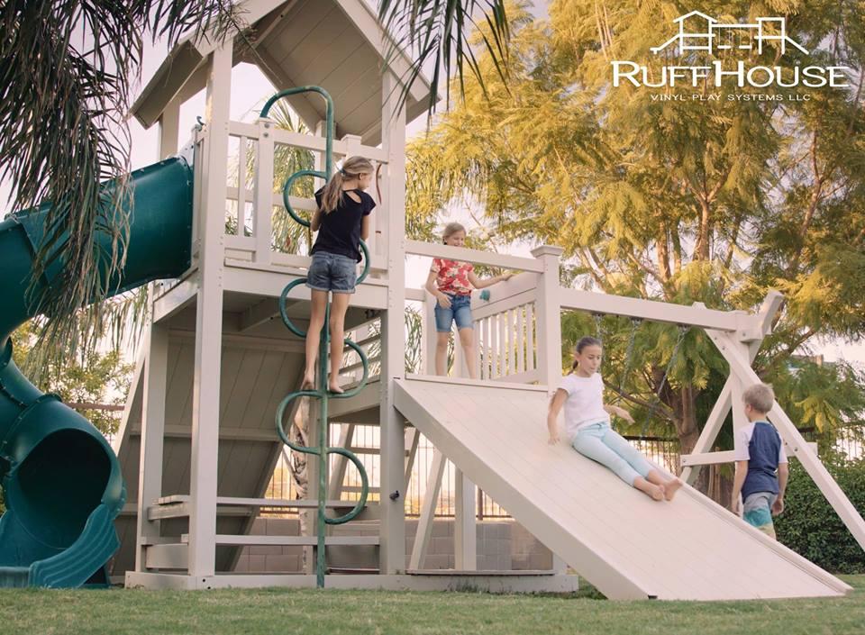 Ruffhouse Vinyl Swing Sets Backyard Playgrounds And